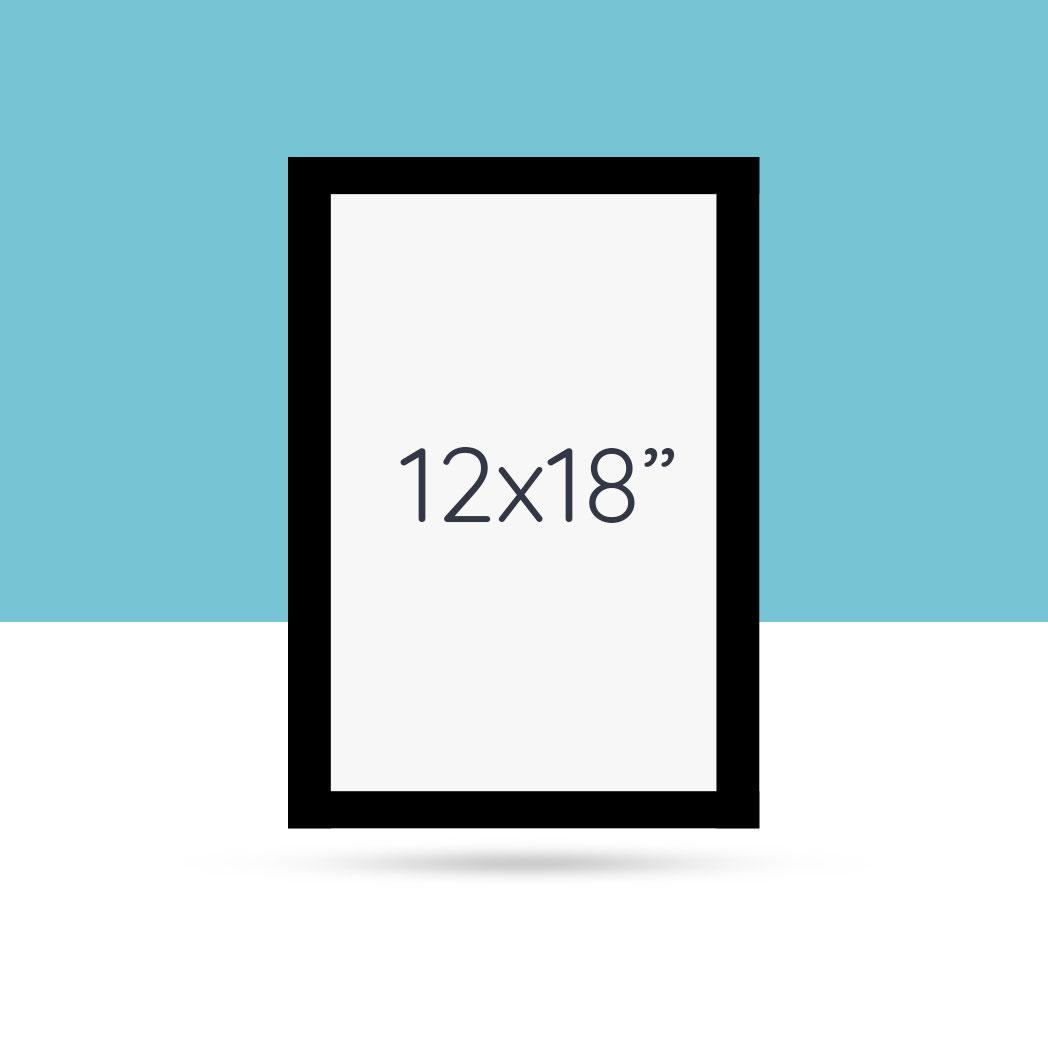 12x18\'\' Simple Black Wood Frame - Craft & Oak