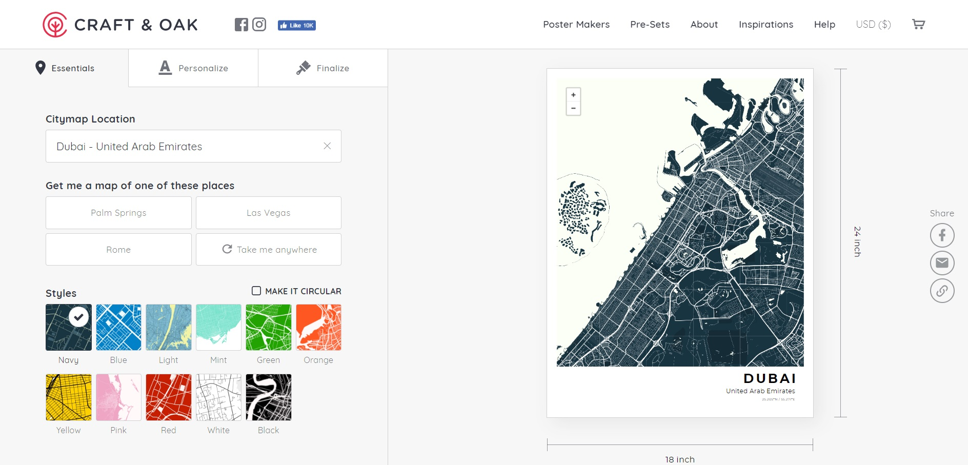 How To Series: Designing Your Own Print - Craft & Oak Design Your Own Map on